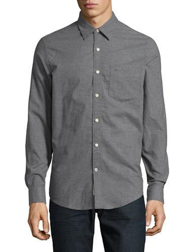 Dockers Heathered Cotton Sport Shirt-GREY HEATHER-X-Large
