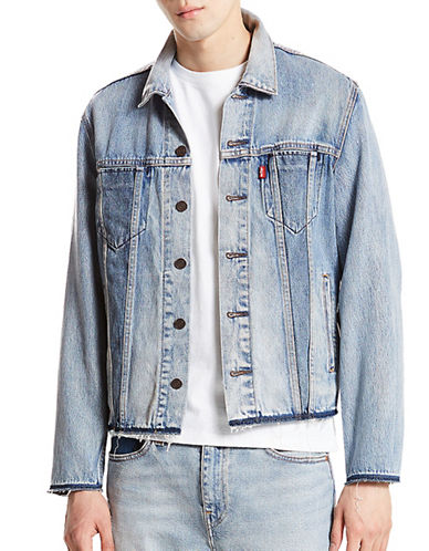LeviS Altered Reform Cotton Trucker Jacket-BLUE-Large