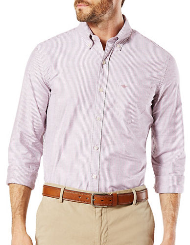 Dockers Stretch Cotton Oxford Shirt-PINK-X-Large