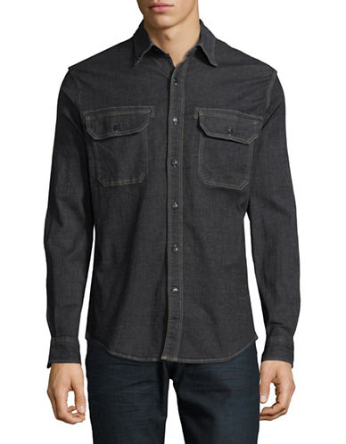 Dockers Denim Sport Shirt-BLACK-Medium