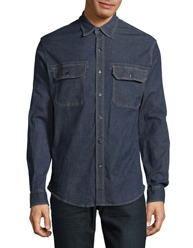 Dockers Ranger Denim Sport Shirt-INDIGO-Small