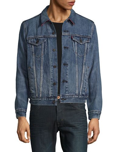 HudsonS Bay Company Mens Denim Jacket-MULTI-Small