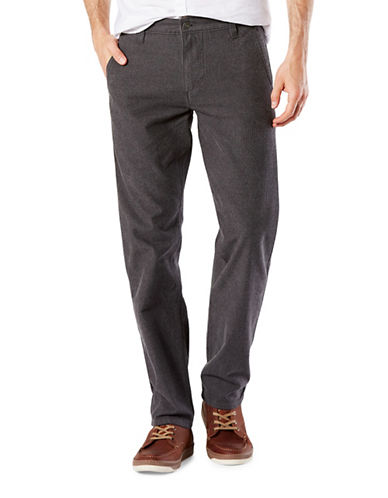 Dockers Girard Herringbone Slim Tapered-Fit Alpha Pants-DARK BROWN-40X30