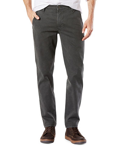Dockers Slim Tapered-Fit Alpha Khaki Pants-BLACK-32X32
