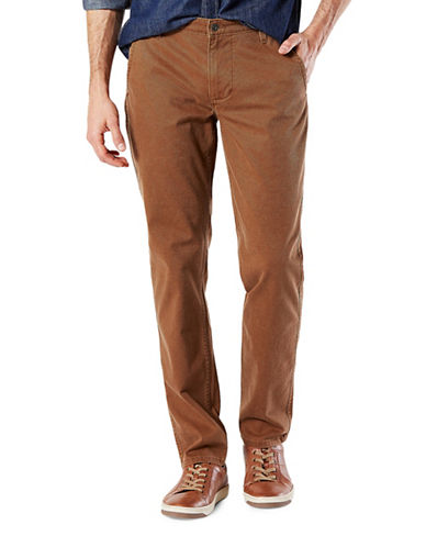 Dockers Slim Tapered-Fit Alpha Khaki Pants-SIERRA-42X30
