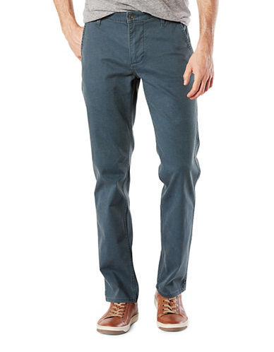Dockers Slim Tapered-Fit Alpha Khaki Pants-BLUE-38X32