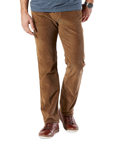 Dockers Straight-Fit Jean Cut Khaki Pants-BROWN-36X32