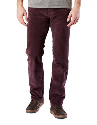 Dockers Straight-Fit Jean Cut Khaki Pants-PURPLE-32X32