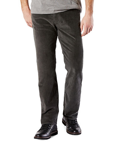 Dockers Straight-Fit Jean Cut Khaki Pants-GREY-32X32