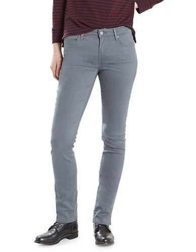 LeviS Mid-Rise Skinny Sateen Jeans-BLUE-31X32