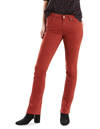 LeviS Mid-Rise Skinny Sateen Jeans-BRICK-27X32