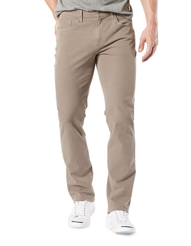 Dockers Slim-Fit Alpha Smart 360 Flex Pants-BROWN-34X34