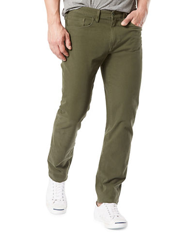 Dockers Slim-Fit Alpha Smart 360 Flex Pants-GREEN-34X30