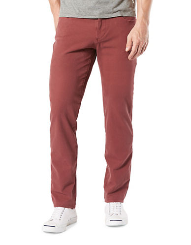 Dockers Slim-Fit Alpha Smart 360 Flex Pants-RED-36X30
