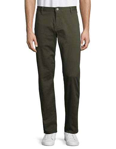 Dockers Washed Skinny Khakis-GREEN-38X34