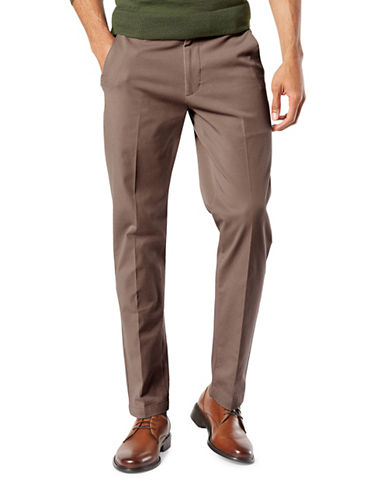 Dockers Smart 360 Flex Slim Tapered Pants-BROWN-32X34