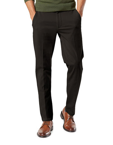 Dockers Smart 360 Flex Slim Tapered Pants-BLACK-32X32