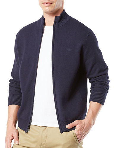 Dockers Pembroke Full Zip Cotton Jacket-BLUE-Medium