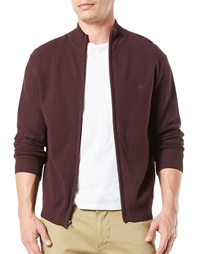 Dockers Bayberry Full Zip Cotton Jacket-RED-Large 89514348_RED_Large