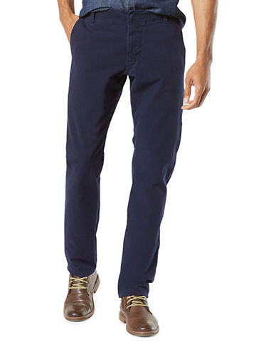 Dockers Slim Tapered-Fit Alpha Khaki Pants-BLUE-32X30