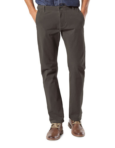 Dockers Slim Tapered-Fit Alpha Khaki Pants-GREY-42X30