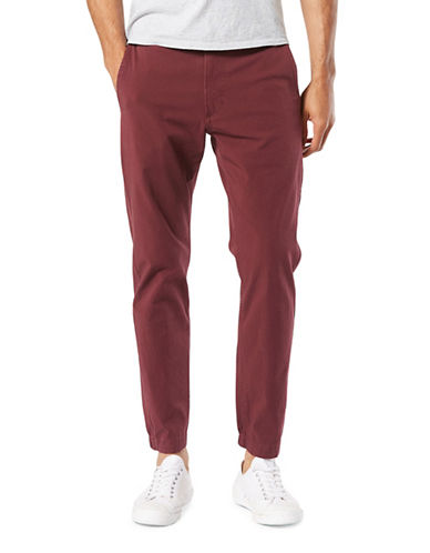 Dockers Smart 360 Flex Tapered Joggers-RED-32X30