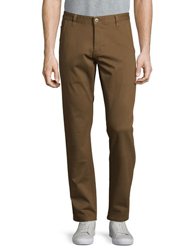 Dockers Alpha Khaki Slim Tapered Fit Pants-BROWN-34X32