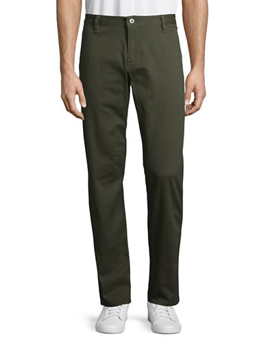 Dockers Washed Athletic Khakis-GREEN-34X30