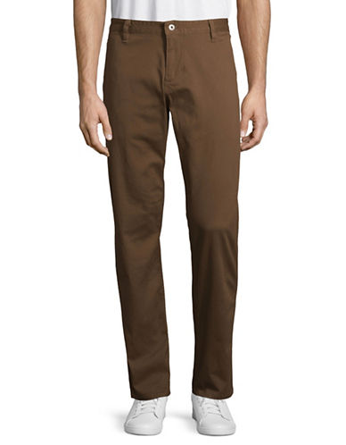 Dockers Washed Athletic Khakis-BROWN-34X32