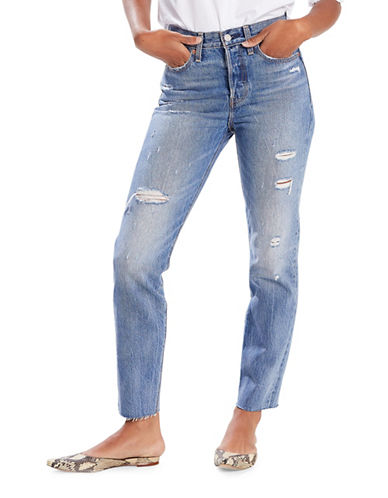 LeviS Wedgie Fit High-Rise Cotton Jeans-BLUE-26