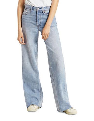 LeviS Altered Wide-Leg Cotton Jeans-BLUE-28
