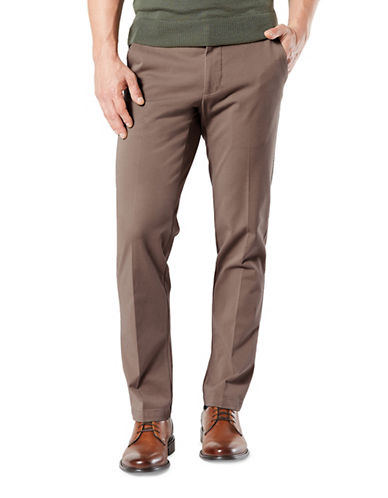 Dockers Straight-Fit Workday Khaki Pants-BROWN-30X32