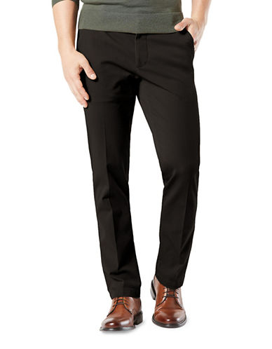 Dockers Smart 360 Flex Straight Pants-BLACK-38X30