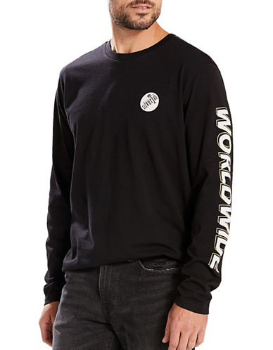 LeviS SilverTab Long Sleeve Worldwide Tee-BLACK-Medium