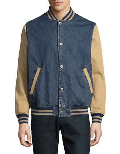 LeviS Silver Tab Bomber Jacket-BLUE-Small