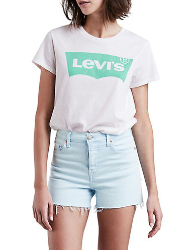 Levi'S Perfect Housemark Logo Graphic Tee-WHITE-X-Small 90078430_WHITE_X-Small