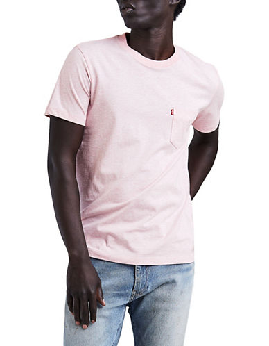 Levi'S Sunset Pocket Cotton T-Shirt-PINK-Medium 89922873_PINK_Medium