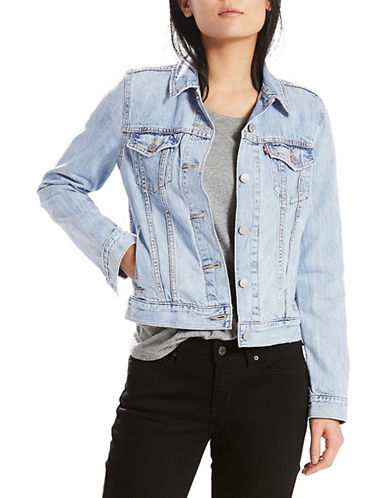 LeviS Denim Trucker Jacket-BLUE-X-Small