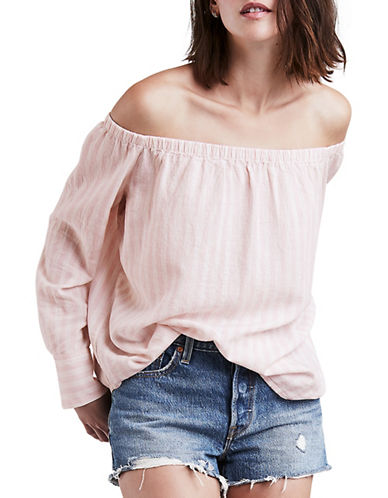Levi'S Poppy Linen-Blend Top-PINK-Medium 90034734_PINK_Medium