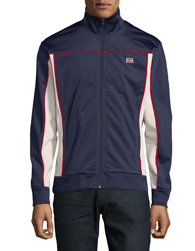 LeviS Sportwear Track Jacket-BLUE/WHITE-Large