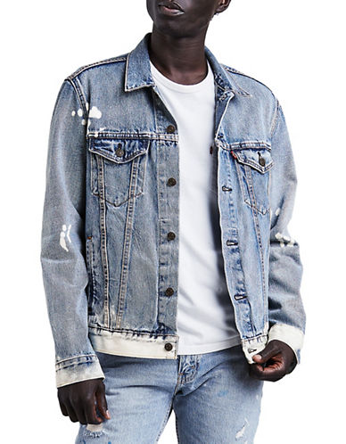LeviS Baez Denim Trucker Jacket-BLUE-Large