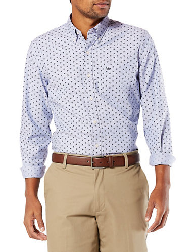 Dockers Hayes Stretch Oxford Sportshirt-BLUE-Medium