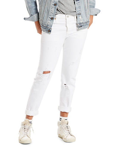 Levi'S Alright Tapered Ripped Jeans-WHITE-25