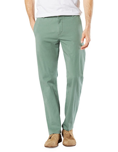 Dockers Slim Alpha Khaki Smart Pants-GREEN-32X32