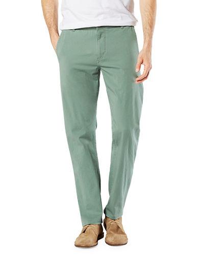 Dockers Slim Alpha Khaki Smart Pants-GREEN-34X32