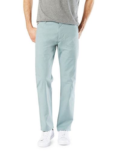 Dockers Slim Tapered-Fit Alpha Khaki Pants-GREEN-32X34