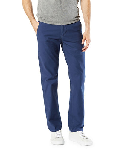 Dockers Slim Tapered-Fit Alpha Khaki Pants-BLUE-36X30