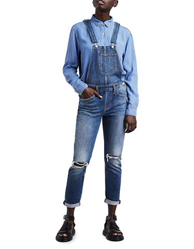 LeviS Syndrome Fitted Overalls-MEDIUM BLUE-Large