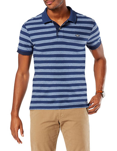 Dockers Short Sleeve Pique Cotton Polo-BLUE-X-Large
