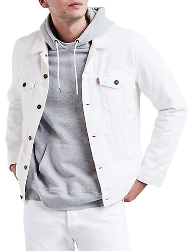 Levi'S Steel Hour Trucker Cotton Jacket-WHITE-X-Large 90060540_WHITE_X-Large